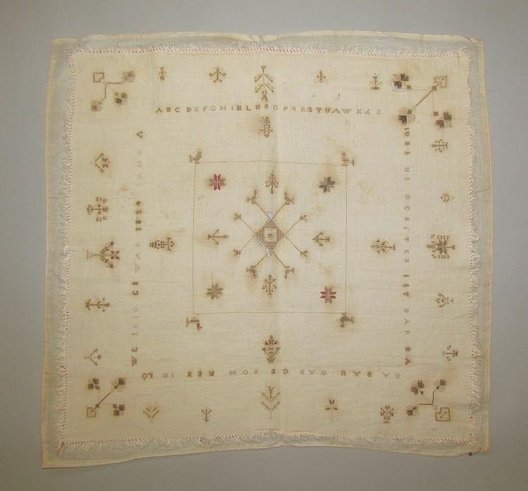 Rare Penna. German wedding handkerchief