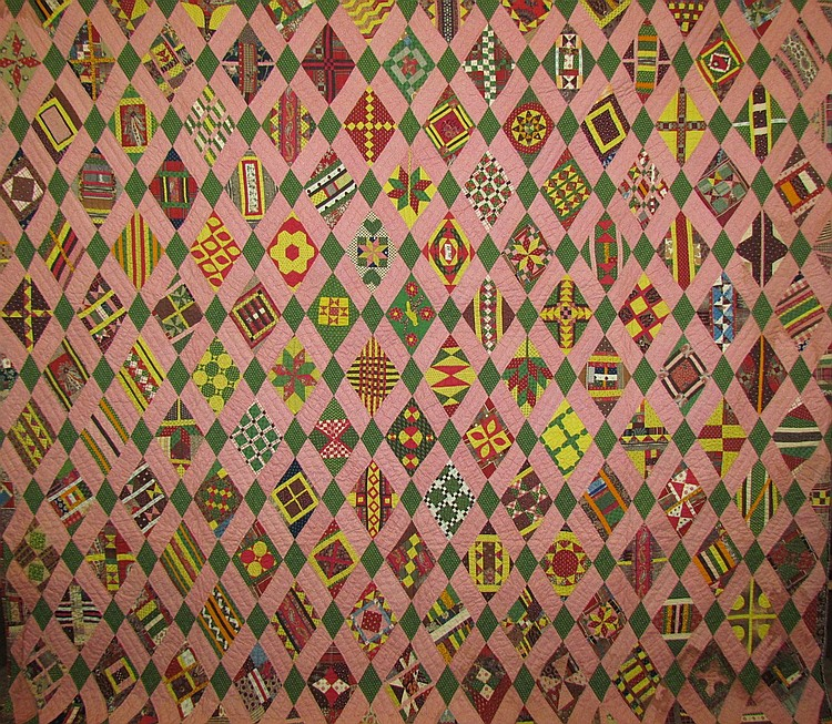 Extremely fine and important Lancaster County sampler quilt