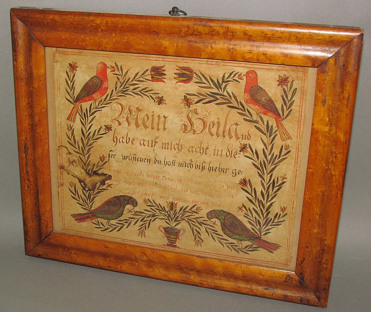 """Fraktur motto """"Mein Heiland habe auf mich…"""""""