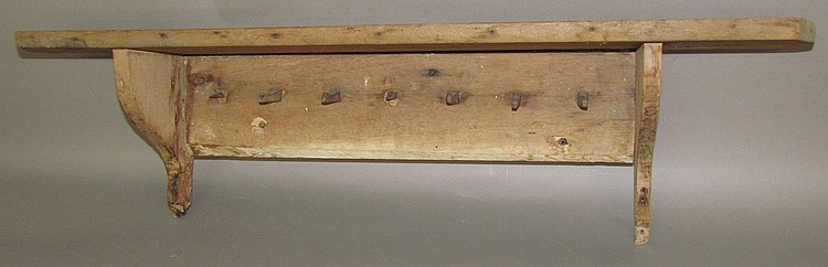 Ephrata Cloister peg rail with shelf