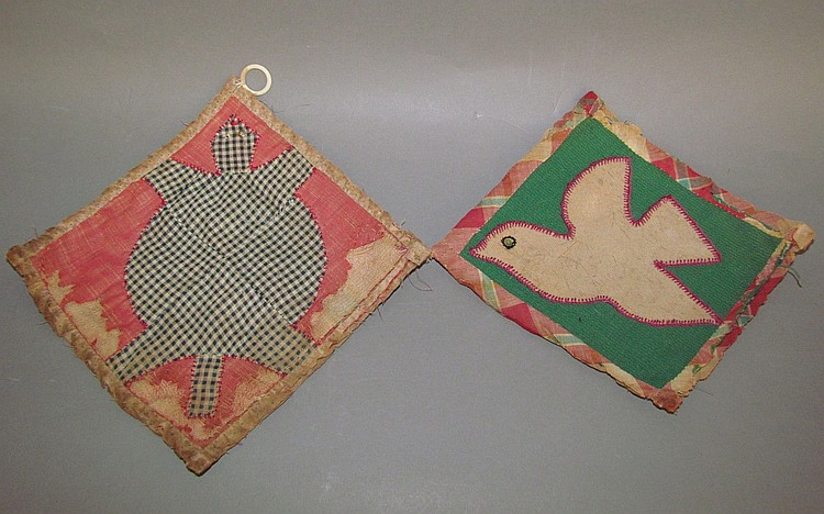 2 Pieced and appliquéd hot pads