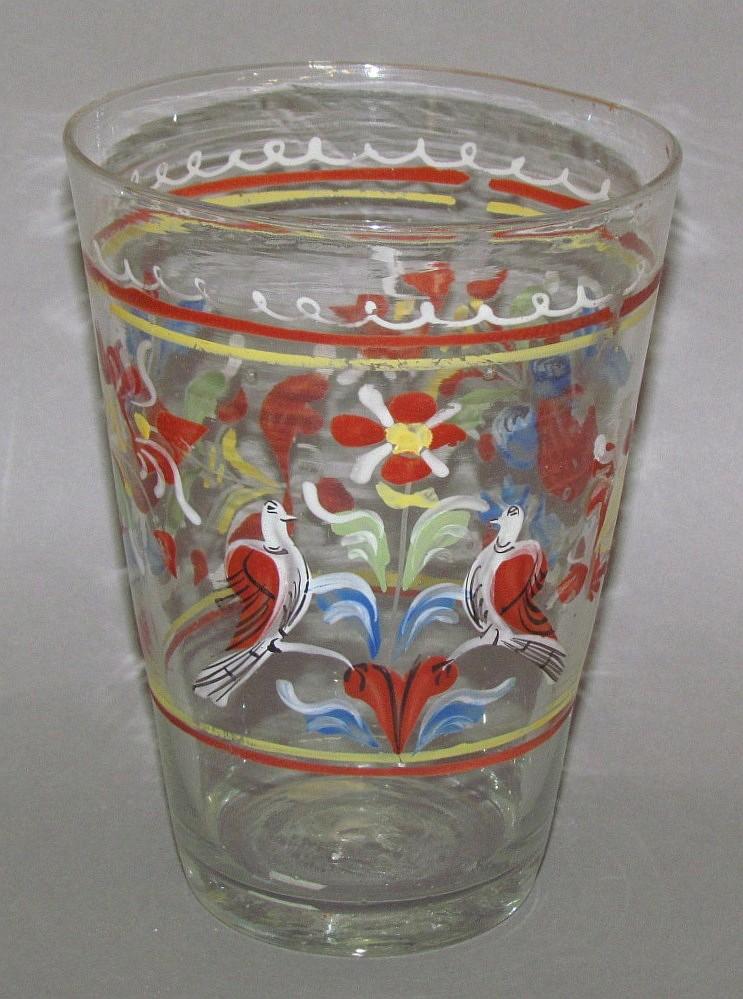 Enameled Stiegel glass