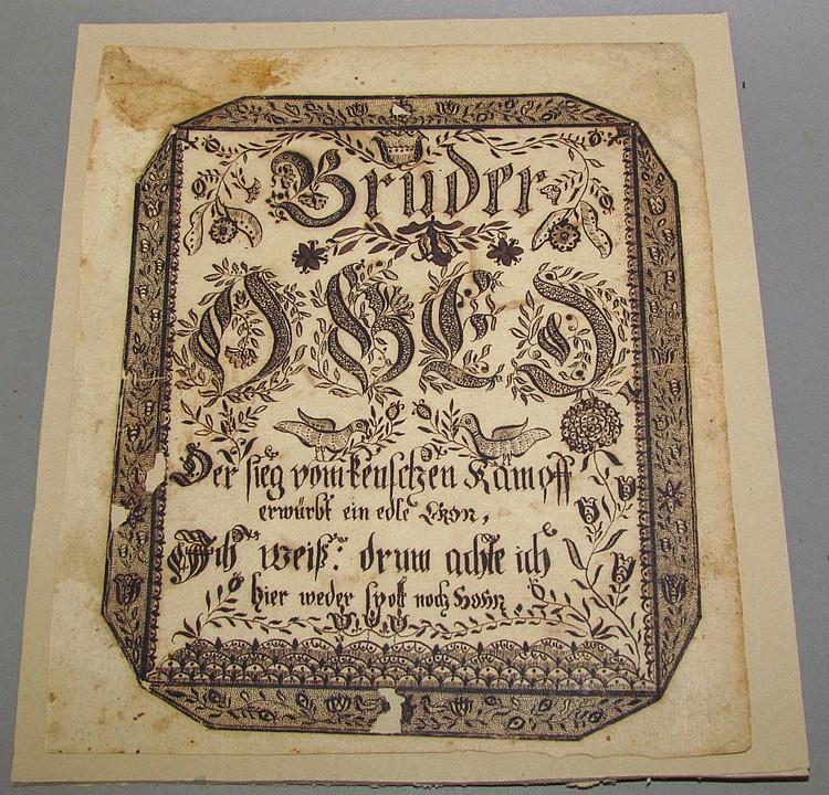 Rare and important Ephrata Fraktur
