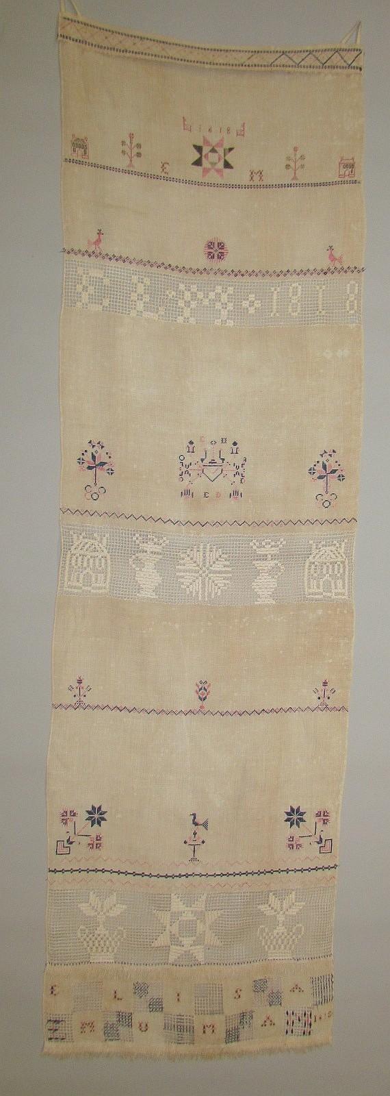 Homespun linen door towel