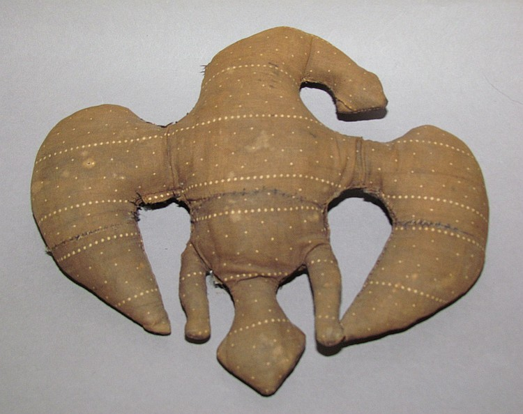 Early fabric sculptured eagle