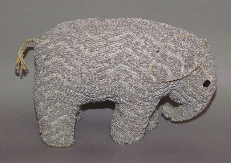 Lancaster County fabric handmade toy elephant