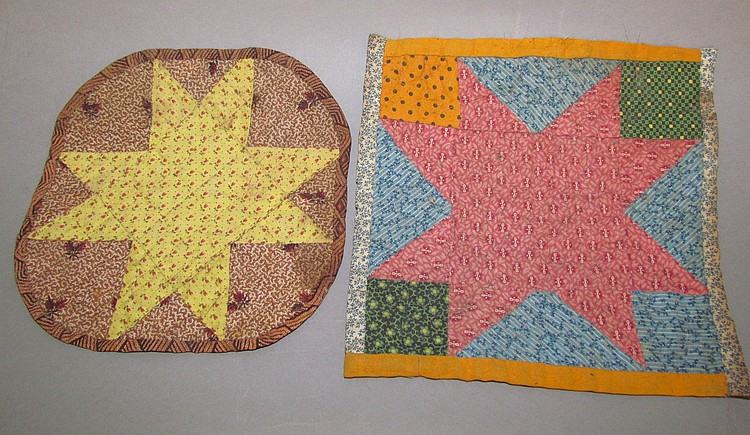Pieced hot pads. Lancaster Co., Mennonite