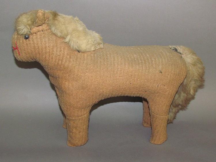 Old Order Mennonite fabric horse