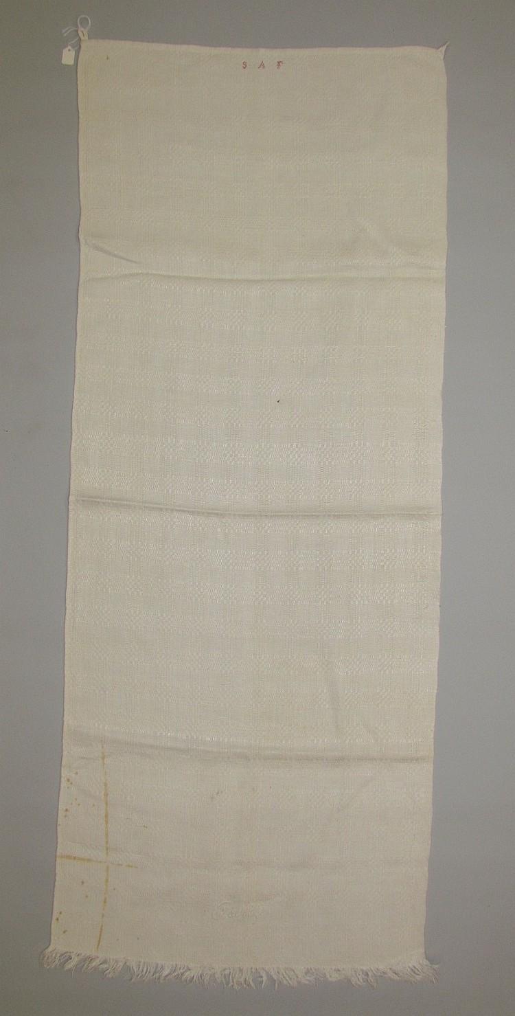 Homespun pattern woven towel