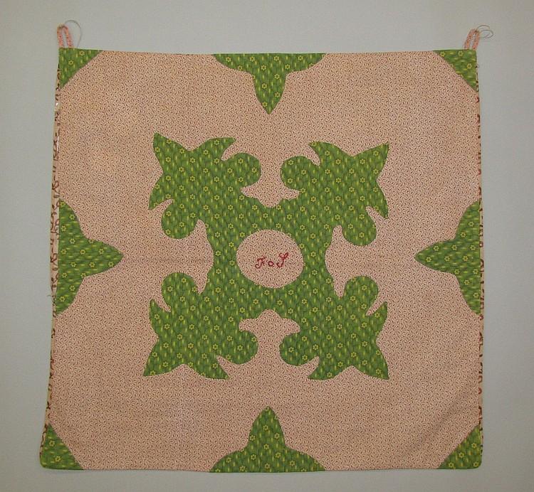 Appliquéd privy bag (Mennonite)