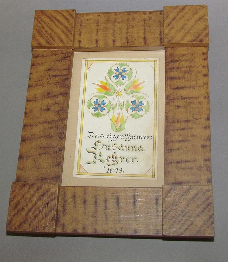 Bookplate of Susanna Rohrer 1849