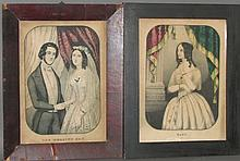 3 hand-colored lithographs