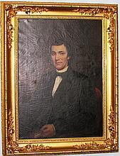 Seated man portrait