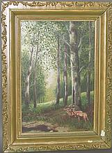 Signed landscape painting