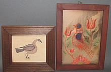 2 watercolor paintings