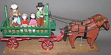 Luke Gottshall horse & farm wagon carving
