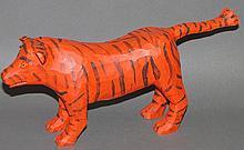 Strawser tiger carving