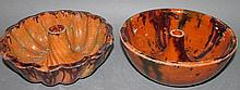 2 PA redware food molds