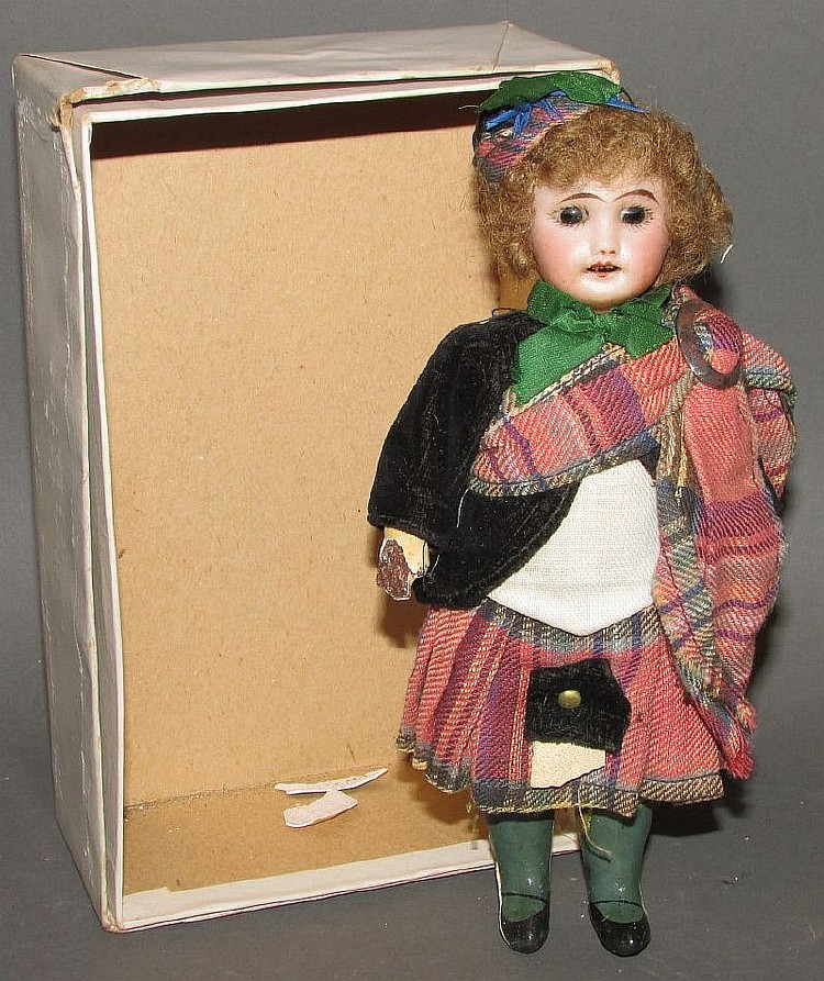Scottish dressed pocket doll