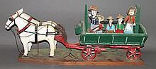 Luke Gottshall horse & wagon carving