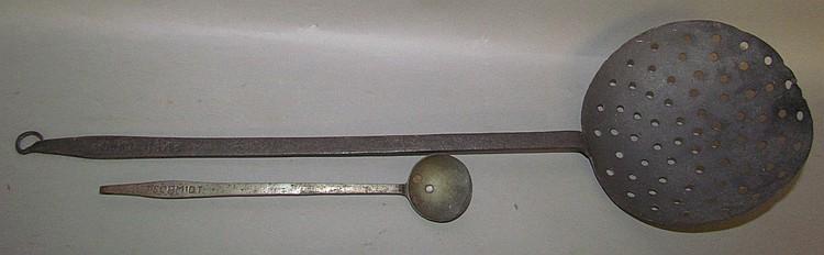 2 wrought iron J. Schmidt ladles
