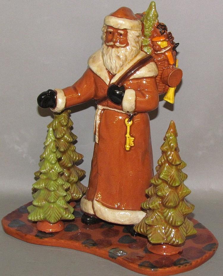 Redware Santa