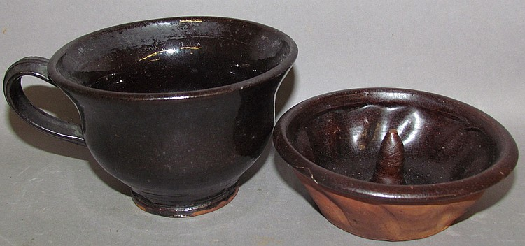 2 PA redware items