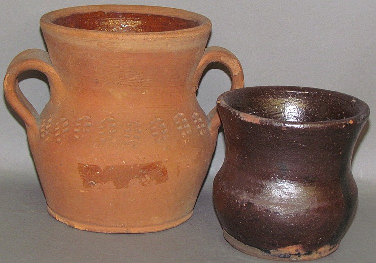 Lot 118: 2 Henry Schofield redware items