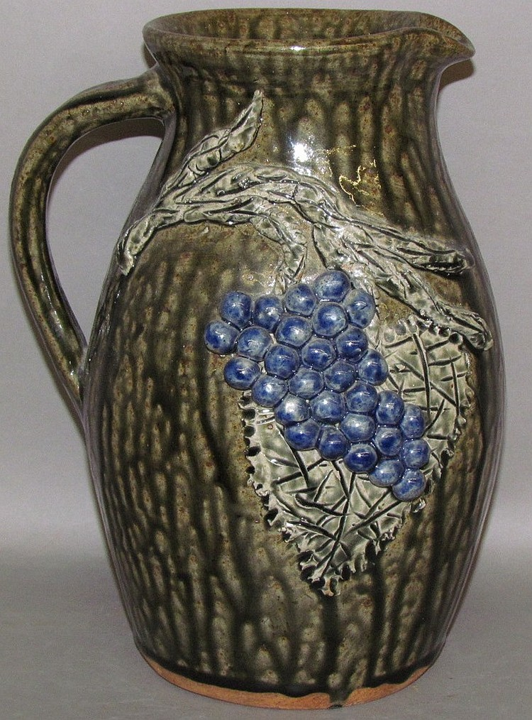 Cleater & Billie Meaders redware pitcher