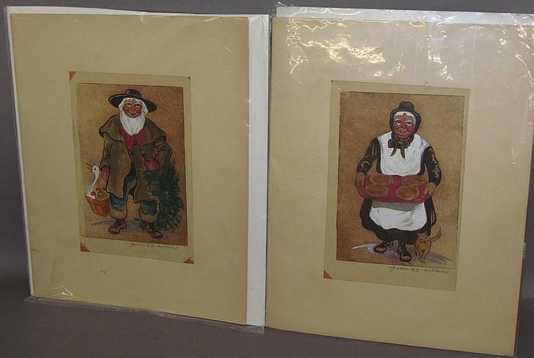 Pair of James M.K. Waldron paintings