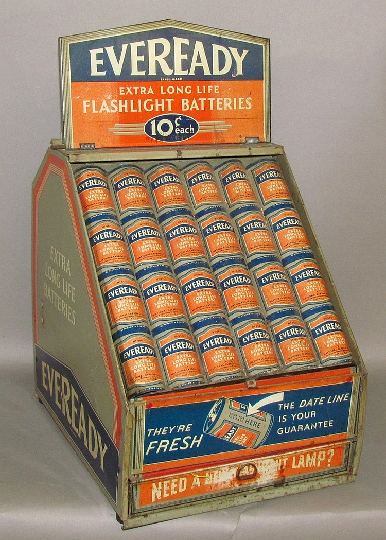 Eveready Battery counter top display