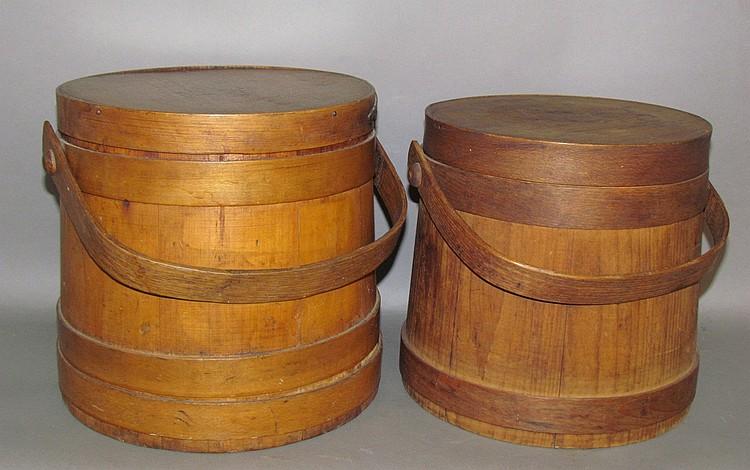 2 wooden firkins