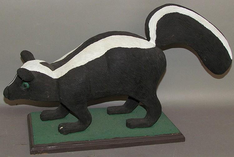 Robert D. Funke carved skunk