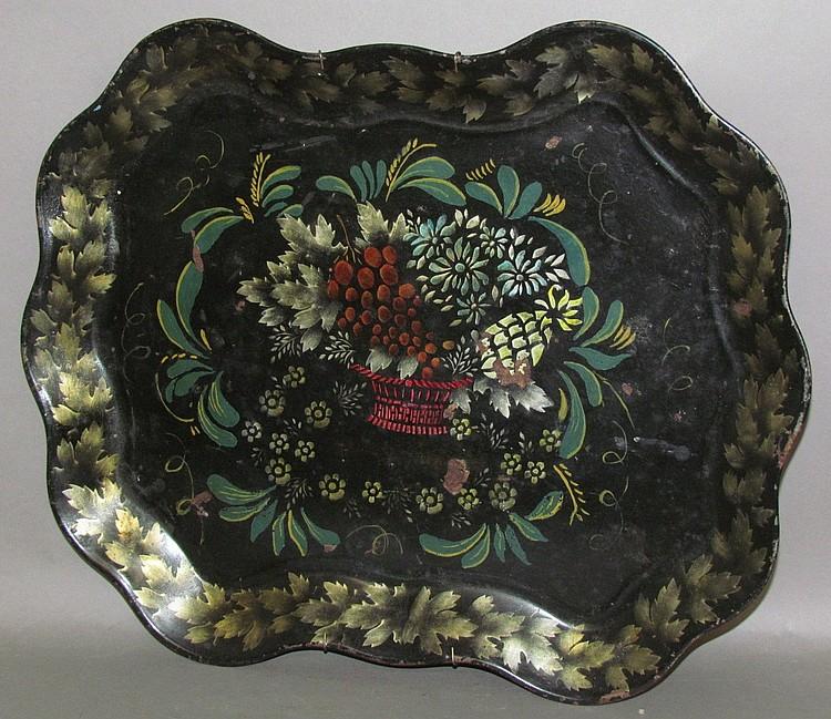 Victorian toleware tray