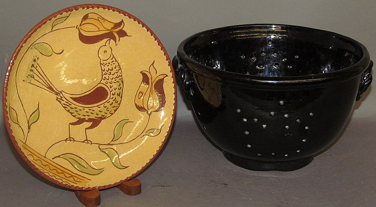 Lot 65: 2 pieces of reproduction redware