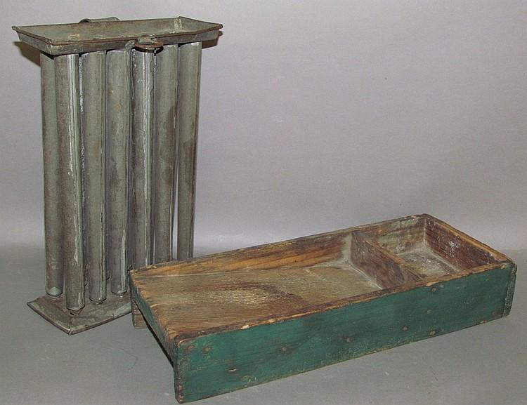 Lot 173: Scour box & candlemold
