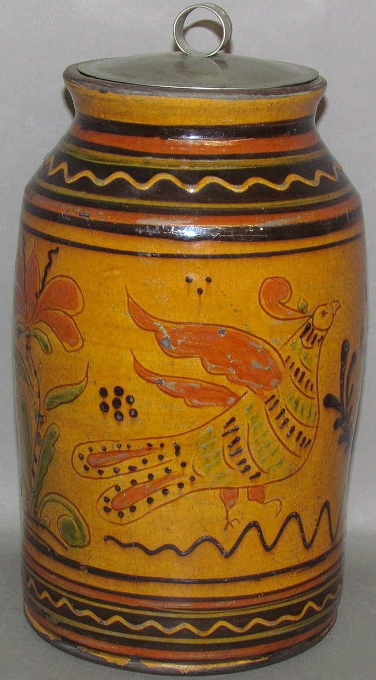 Greg Shooner Moravian form redware storage jar