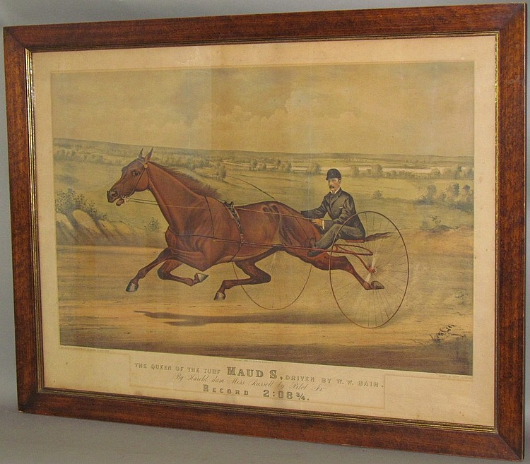 "Lot 187: Currier & Ives ""Queen of the Turf"" lithograph"