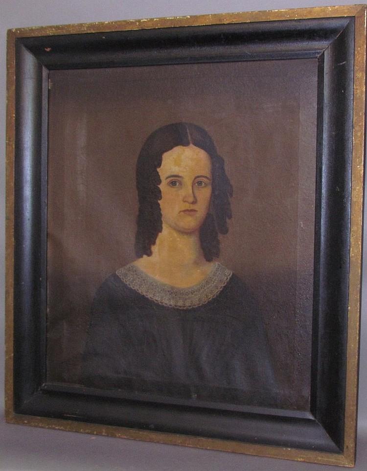Lot 184: Oil portrait on canvas