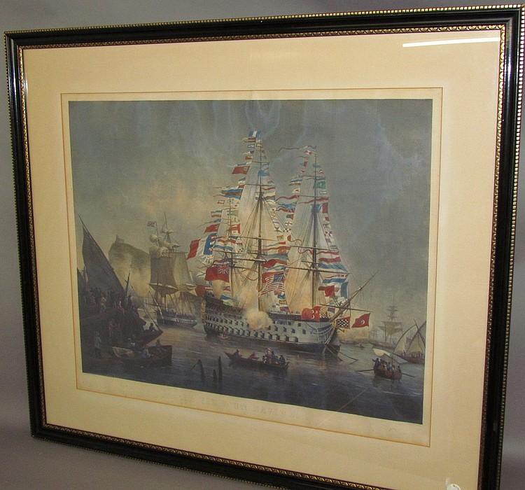 La Vie Dun Navire lithograph