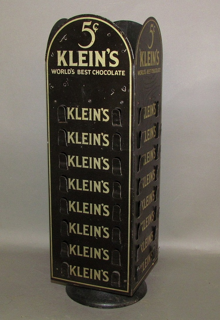 Klein's Chocolate revolving display stand