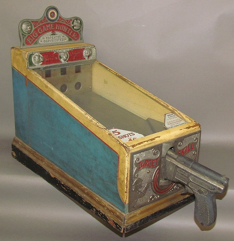"Lot 95: Penny operated ""Big Game Hunter"" shooting gallery"