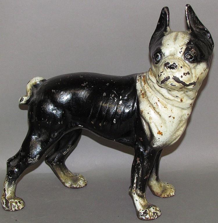 Lot 42: Hubley Boston Terrier dog doorstop