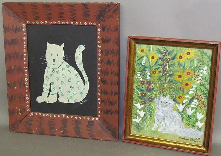 Lot 76: 2 framed Strawser paintings