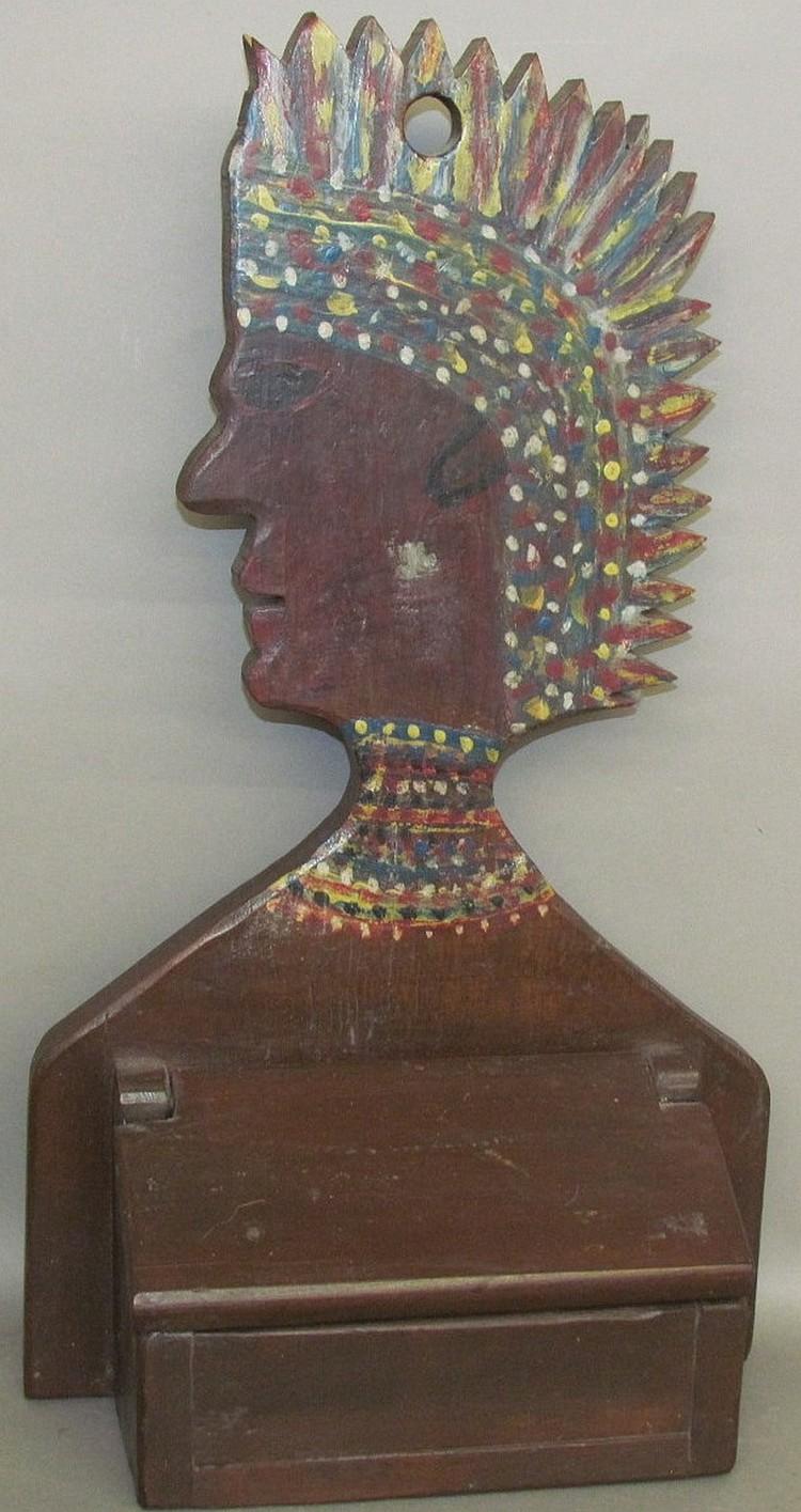 Folk art salt box