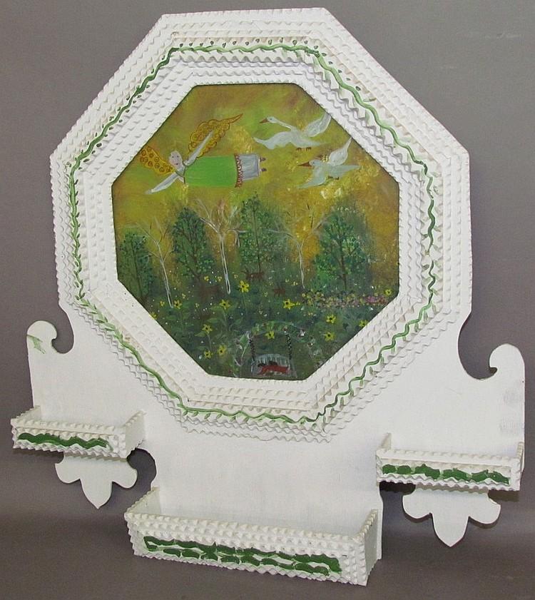 Barbara Strawser watercolor in Daniel Strawser Jr. frame