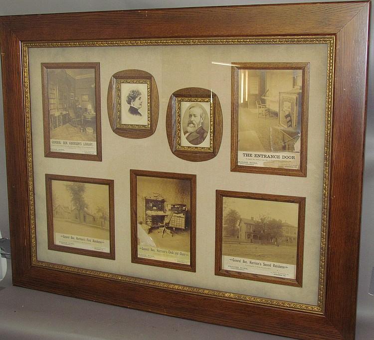 Large frame of Benjamin Harrison photos