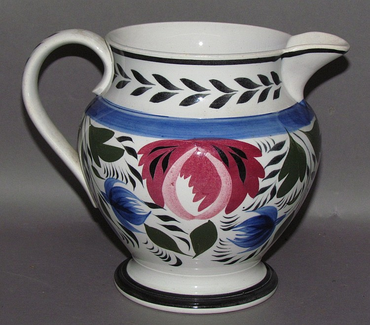 English Staffordshire pearlware pitcher