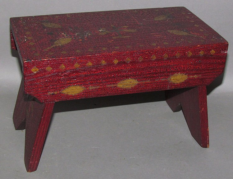 Western PA style paint decorated foot stool