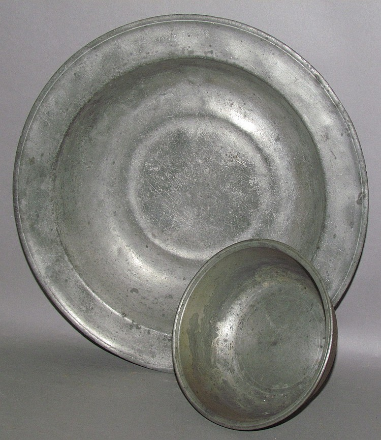 2 pewter basins